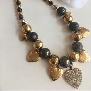 80's Vintage Heart / Locket Necklace